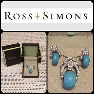 Ross & Simons 925 S Turquoise Necklace & Earrings